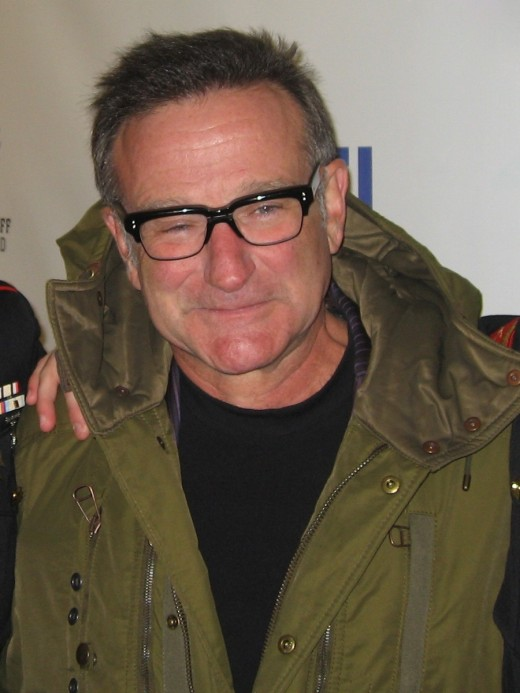 "American comedian Robin Williams at ""Stand Up for Heroes,"" a comedy and music benefit organized by the Bob Woodruff Family Fund to raise money for injured U.S. servicemen. 9 November 2007"