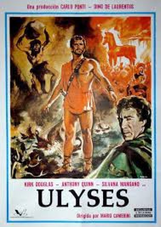 A poster depicting the fifties Italian production of the Odyssey.