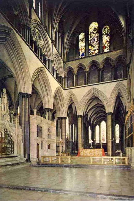 The sanctuary of the Cathedral in a J. Arthur Dixon postcard
