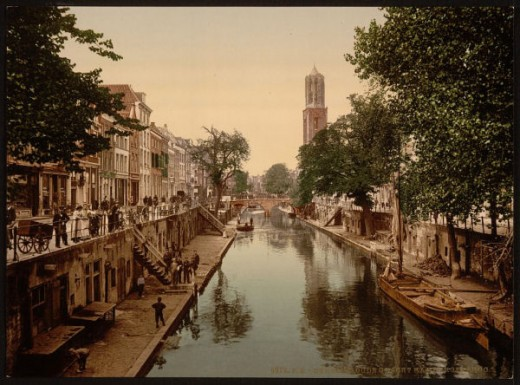 Utrecht: old canal in 1890