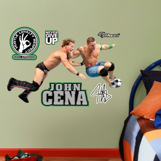 I wanted to add many more wrestler decals but space is of issue, here. You can find this one and more like it at the John Cena wall decal link below.