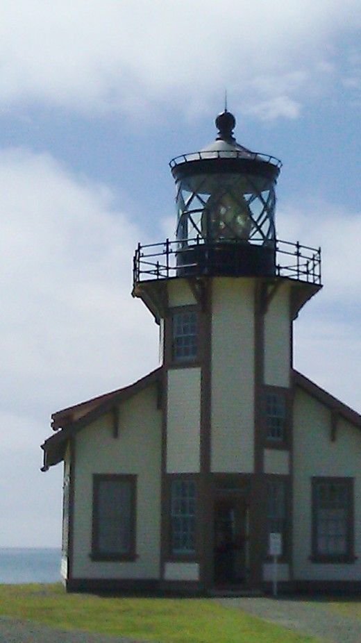 Lighthouse and its dazzling gem-like lens