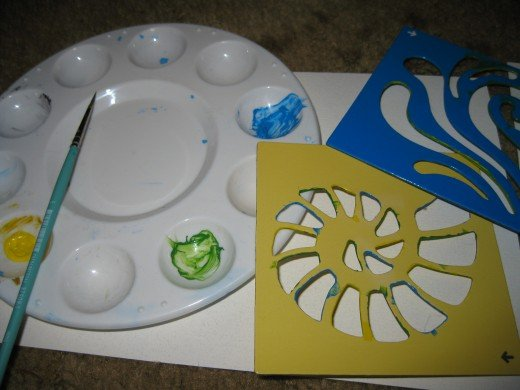 Use the middle of your paint wheel for mixing!