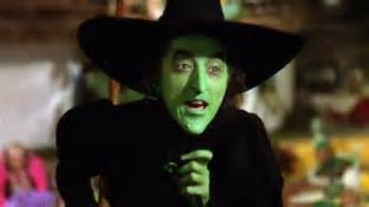Margaret Hamilton starred as Wiked Witch of the West, Wizard of Oz (1939)