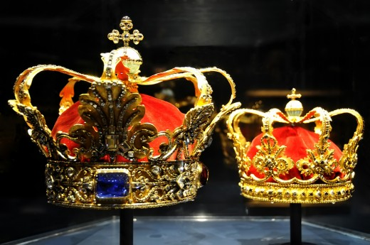 Crowns in Denmark Treasury  Crown Jewels