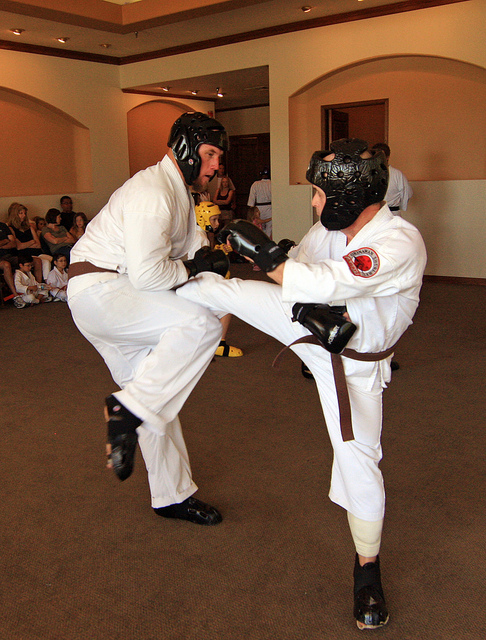 Karate Sparring Protective Gear for Head, Fists and Feet