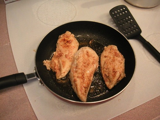 Continue turning the chicken until the outside turns a nice golden brown color and the juices run clear when it's cut.