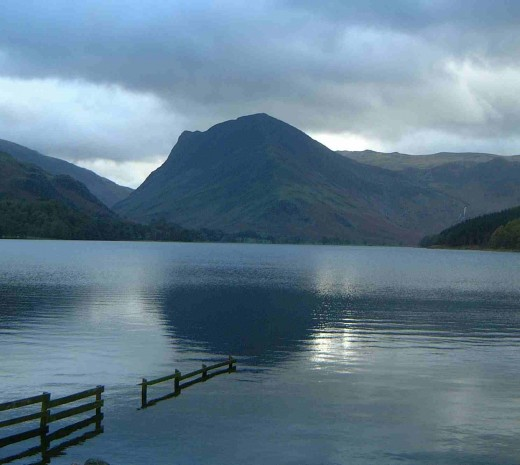Beautiful Buttermere with Fleetwith Pike in the background