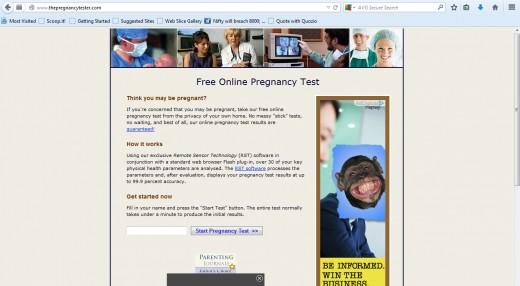 Online Pregnancy Test Free Pregnancy Probability Test - oukas info