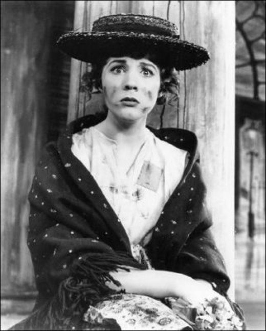 """Julie Andrews as Eliza Dolittle in the original Broadway production of """"My Fair Lady."""""""