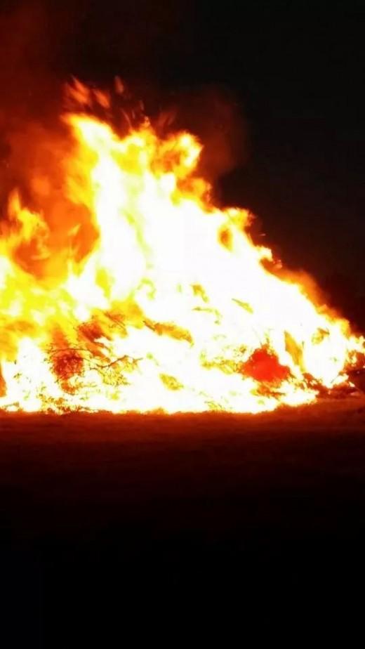 Southside ISD Homecoming Bonfire.