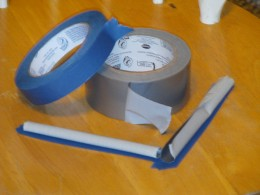 Improvised barrier based on tape adhesive