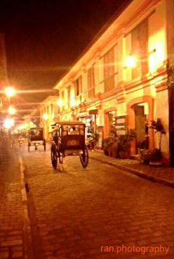 "Night at the UNESCO heritage site VIGAN CITY ""Beautiful Shore"""