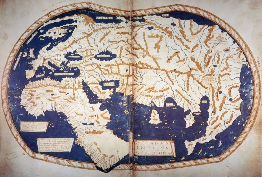 Map from the 15th century