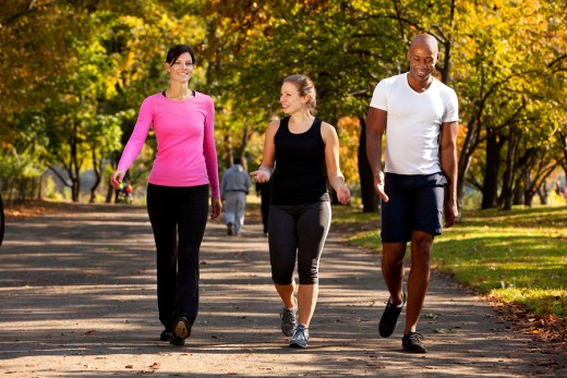 Walking has been reported to relieve back pain in as little as seven days.
