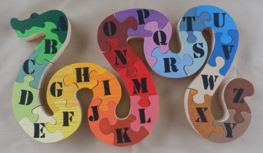 Wooden Toy Alphabet Snake