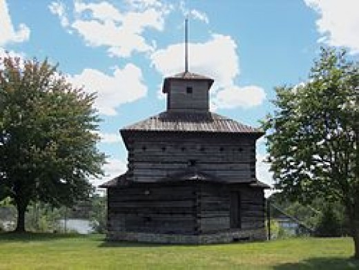 Fort Armstrong Blockhouse replica