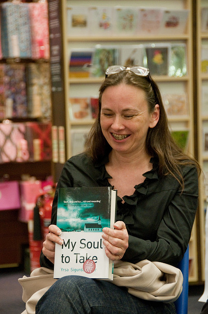 Icelandic Author Yrsa Sigurdardottir at A Book Signing