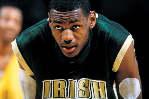 LeBron during his Jr. year at SVSM