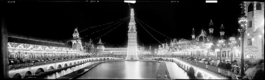 A three-piece panorama by the Detroit Publishing Co. about 1905.