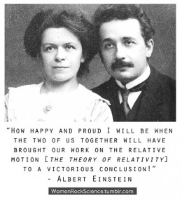 Young Albert Einstein with wife and possible collaborator Mileva Maric Einstein.