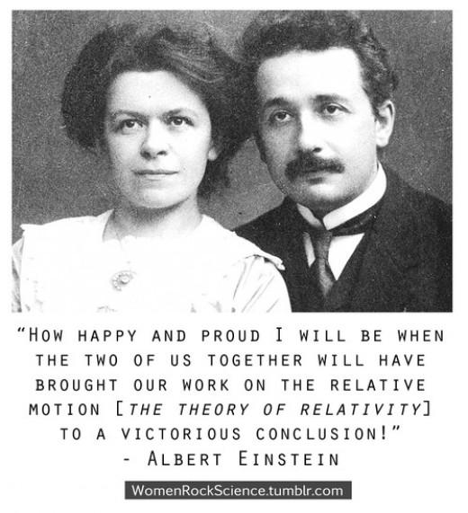 Young Albert Einstein with wife and possible collaborator Mileva Maric Einstein.