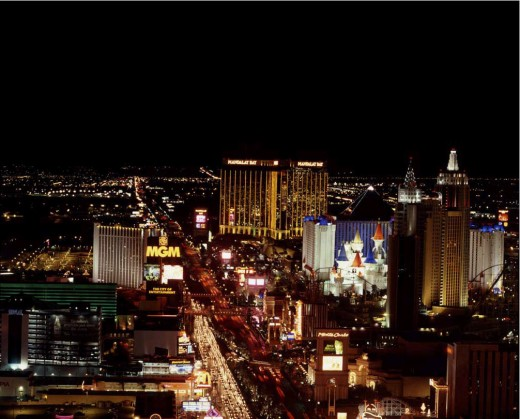 Las Vegas after dark