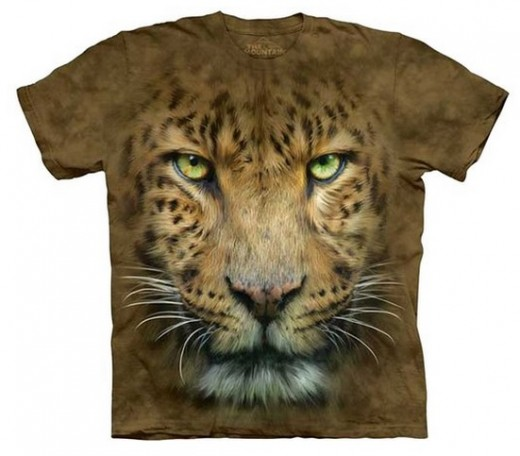 The Mountain Big Face Leopard T-Shirt