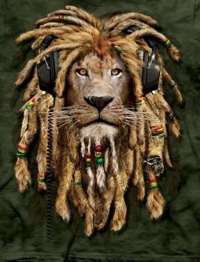 The Mountain DJ Jahman Reggae Lion T-Shirt