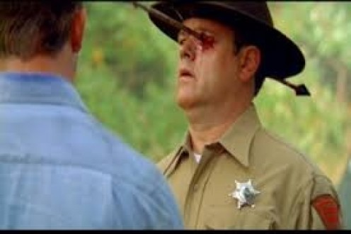 Even Law Officers are in trouble when dealing with the Inbred Freaks from Wrong Turn.