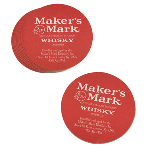 Maker's Mark Coasters