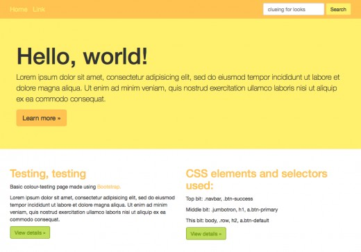 Bright, friendly, and using my old CSS method, took more time to change the CSS than to design the colour scheme.