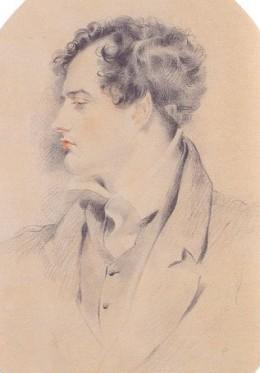sketch of Lord Byron