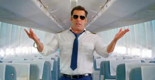 Salman Khan (the host) teasing the flight BB 08