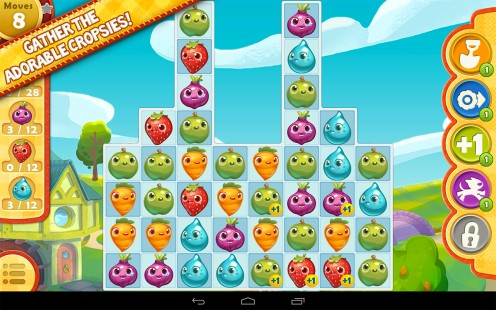 Collect cropsies to complete each level!
