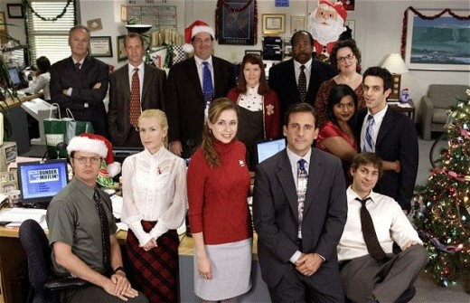 The Office gathers round for a Christmas themed picture