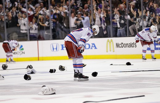 Rangers skate devastated after the loss