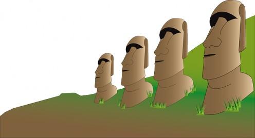 Drawing of Moai