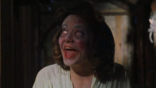 Betsy Baker is having a rough weekend in The Evil Dead