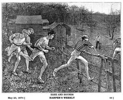 Playing 'Hares and Hounds' in 1838