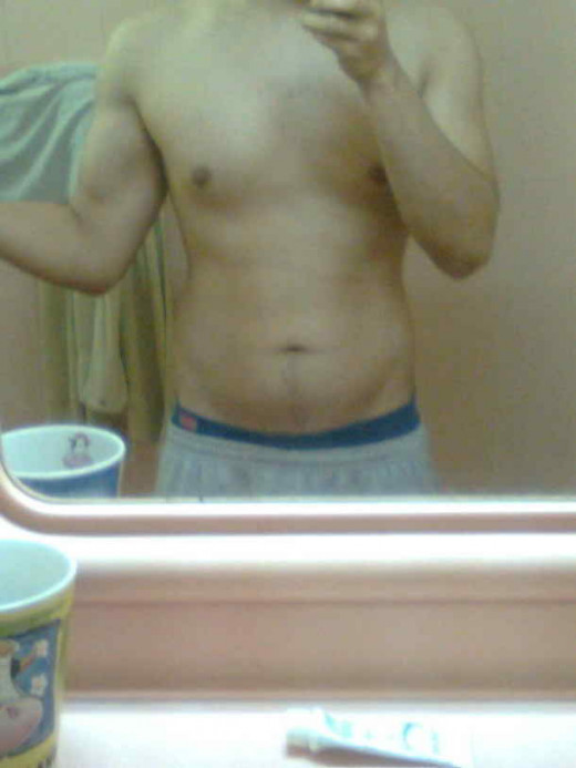 Here's a picture of me after a 'dirty' bulk