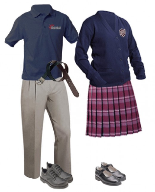 One example of a school uniform.
