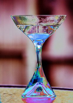 Stylish martini glasses perk up any party!