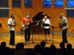 The New Century Saxophone Quartet performs at Wildacres Retreat & Conference Center