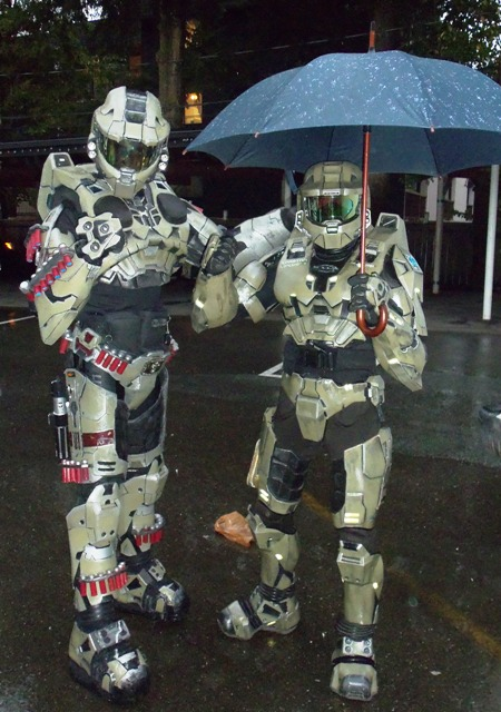 Spartans in the rain