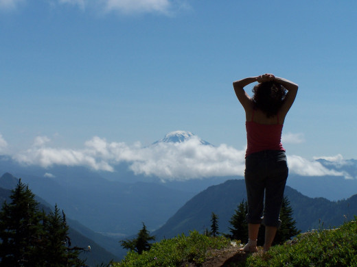 The woman on the mountaintop