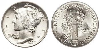 Mercury dimes were minted between 1916-1945
