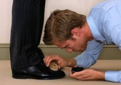 "Cleaning the boss' shoes is only one of the tasks performed by ""Brown Nosers"""