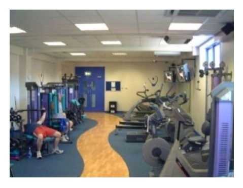 Gym in use.