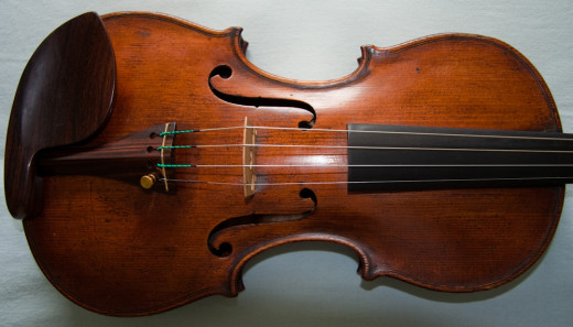 Cremonese made violins such as this Laurentius Storioni 1771 violin are favoured for playing Bach's Chaconne